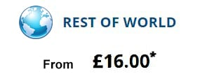 Parcel to Rest of World from £16.00